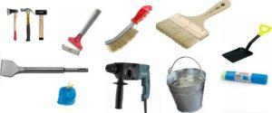 Инструменты, которые понадобятся для подготовки поверхности под оштукатуривание