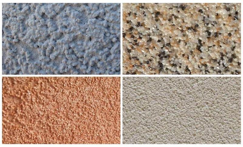 Камешковая декоративная штукатурка - эффектный и экономичный метод финишной отделки стен