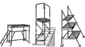 Козел, стремянка, подмостки, рабочий стол