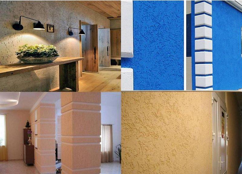 Крупнозернистую роллерную штукатурку используют для отделки фасадов зданий, больших залов, офисов