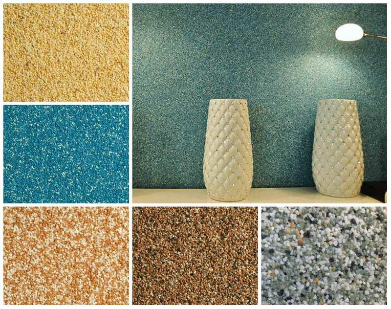 Мозаичную штукатурку используют для оштукатуривания внутренних и внешних поверхностей