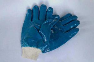Перчатки резиновые на трикотажной основе