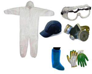 Перед выполнением штукатурных работ следует облачиться в специальную одежду