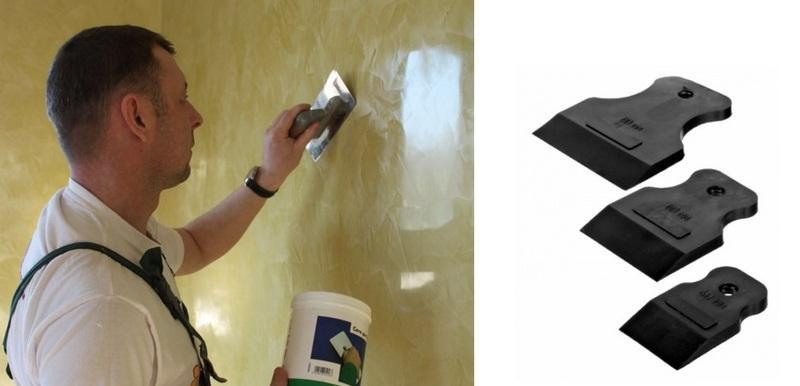 После высыхания на основание наносится финишный восковой слой с помощью резиновых шпателей