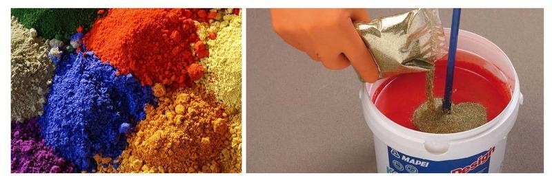 Придать покрытию разнообразные оттенки можно, добавив пигмент в готовый состав