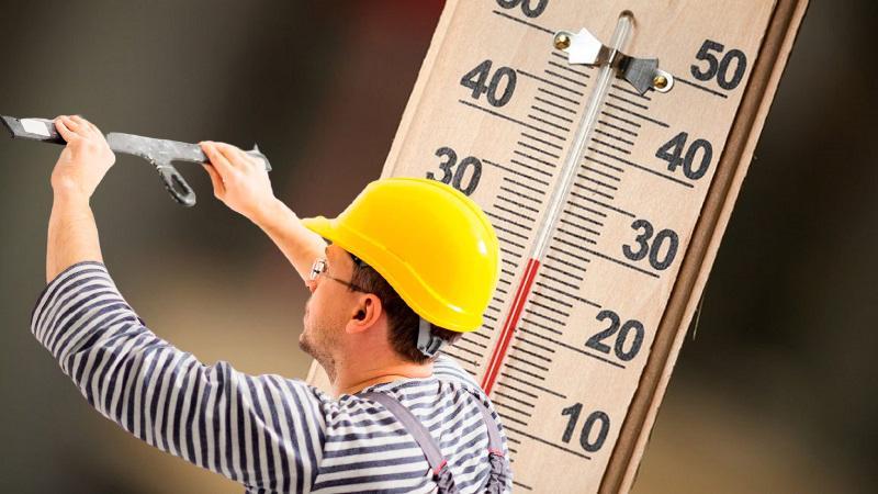 Рекомендованная температура для штукатурных работ от +5 ºС до +30 ºС