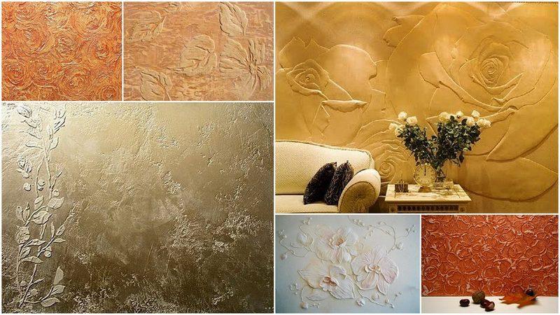 С помощью фактурной штукатурки украшают стены, придавая им нужный рельеф и рисунок