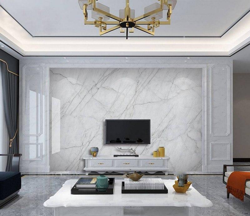 С помощью венецианской штукатурки, имитирующей мрамор, можно создать роскошный интерьер