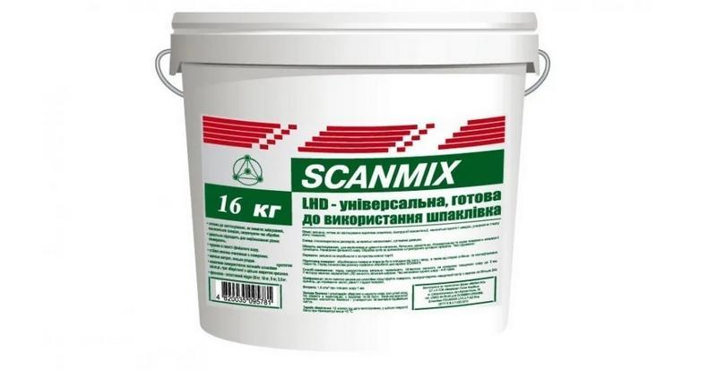 Шпаклевка SCANMIX TT - акриловая шпаклевка, которая предназначена для фасадных работ