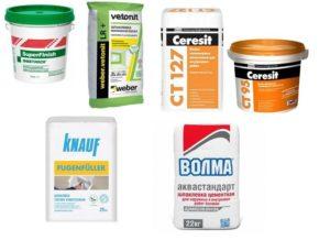 Шпаклевочные смеси, рекомендуемые для применения строителями-профессионалами