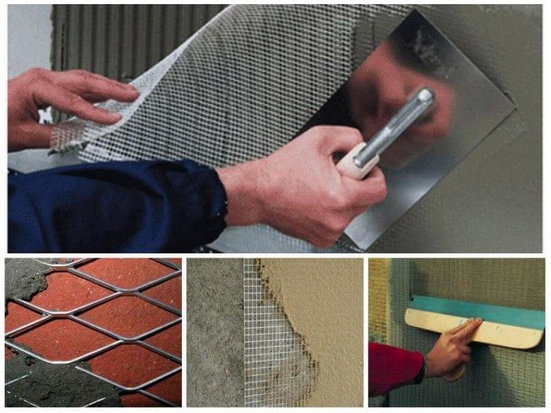 Усилить штукатурку можно с помощью армирующей сетки