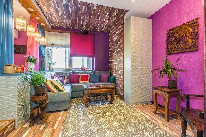Зонирование интерьера при помощи декоративной штукатурки - эффективный способ создать уютную обстановку