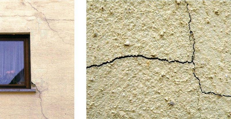 Дефекты штукатурки на фасадах зданий возникают из-за влаги и других природных явлений