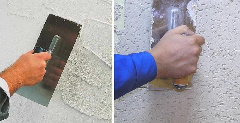 Декоративная штукатурка придаст поверхности оформленный внешний вид и устранит мелкие дефекты