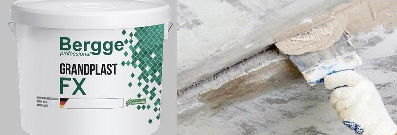 Дисперсионная пастообразная шпаклевка Bergge Grandplast FX применяется для заделки крупных трещин на потолке