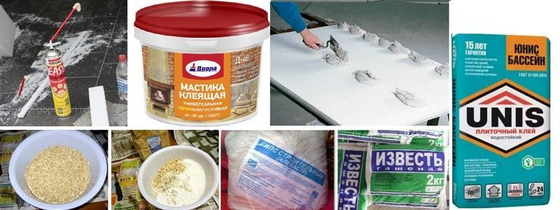 Для крепления ГКЛ к поверхности используют разнообразные составы, которые обеспечивают прочное сцепление монтажных плит с основой
