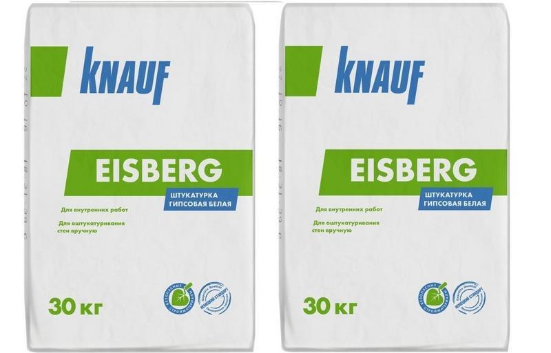 Для оклеивания стен светлыми обоями, рекомендуется выбрать штукатурную смесь Knauf Eisberg