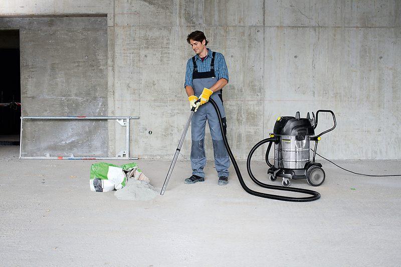 Для уборки пыли и сопутствующего мусора рекомендуется использовать строительный пылесос