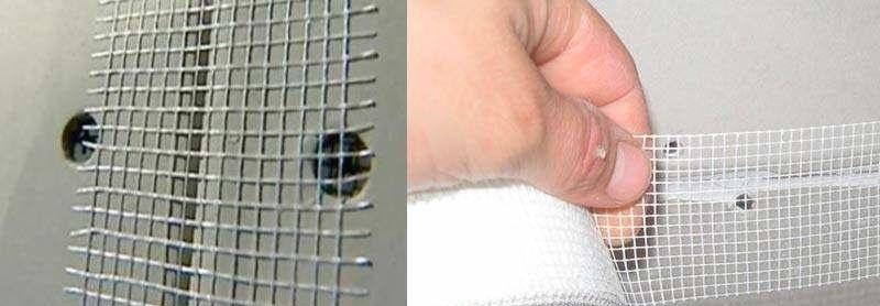 Для заделки ровных швов гипсокартона используют самоклеящуюся ленту-серпянку