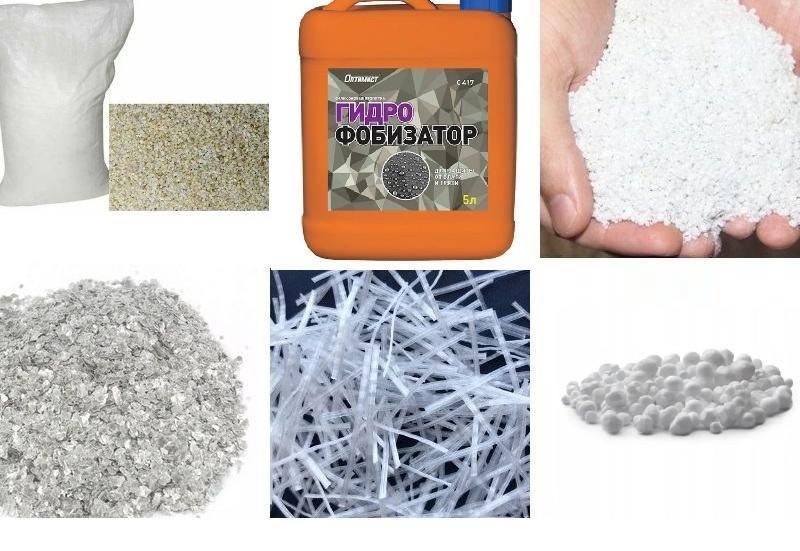 Дополнительные добавки, которые можно вводить в штукатурный состав