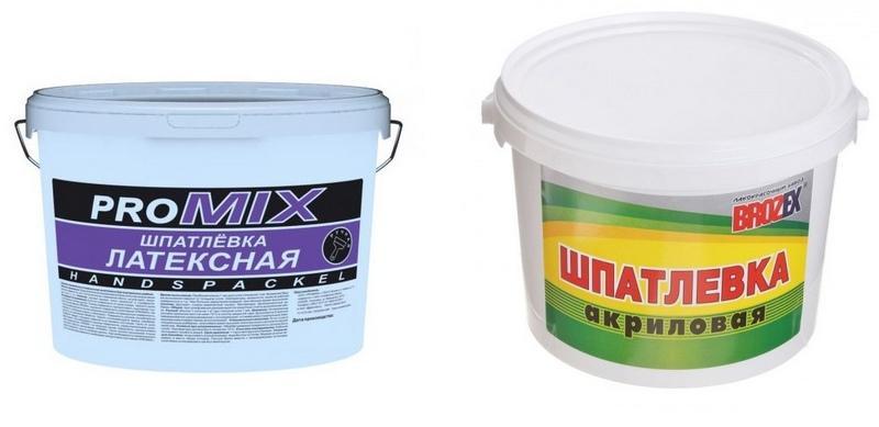 Главное различие между акриловой и латексной шпаклевкой – полимерная основа, используемая при изготовлении материалов