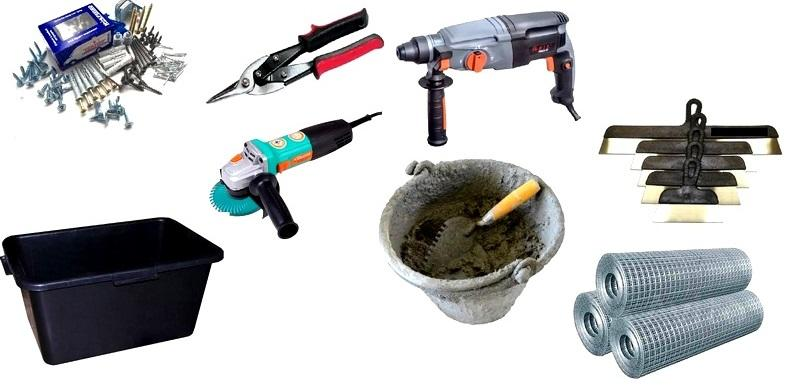 Инструменты для крепления армирующей сетки