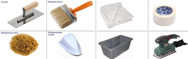 Инструменты для нанесения марокканской штукатурки