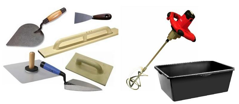 Инструменты для нанесения минеральной штукатурки
