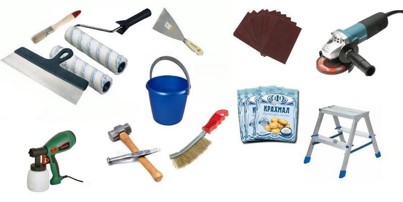 Инструменты для снятия старого покрытия