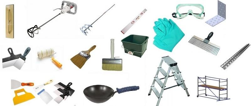 Инструменты для создания декоративного покрытия из штукатурки с песком