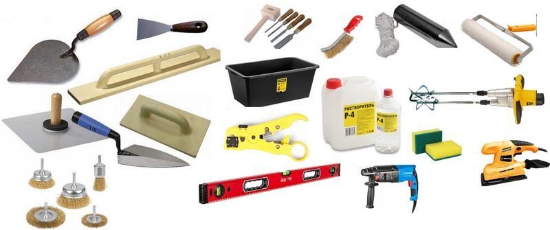 Инструменты для выполнения подготовительных работ