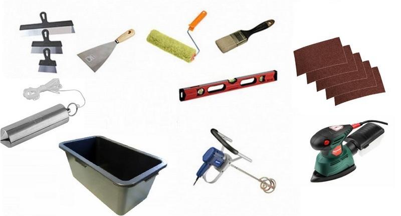 Инструменты для выполнения штукатурных работ