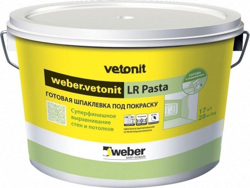 Латексная смесь Vetonit подходит для шпатлевания поверхностей, но только внутри помещений