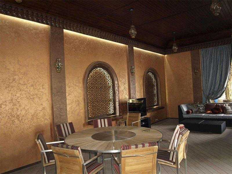 Марокканская штукатурка в ресторане