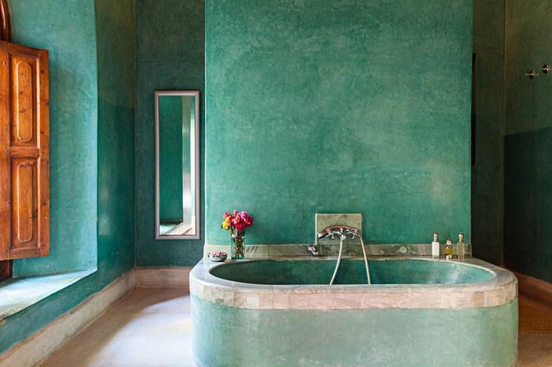 Марокканская штукатурка в ванной