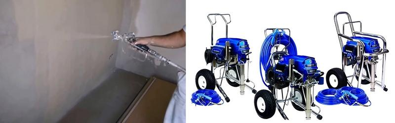 Механизированное нанесение шпаклевки машинным способом существенно ускоряет рабочий процесс
