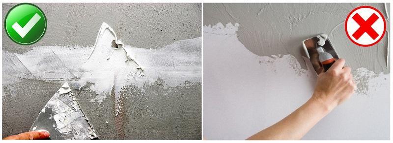 Наносить гипсовую шпаклевку на цементную штукатурку можно, а вот цемент на гипс - нельзя, иначе будут отслоения