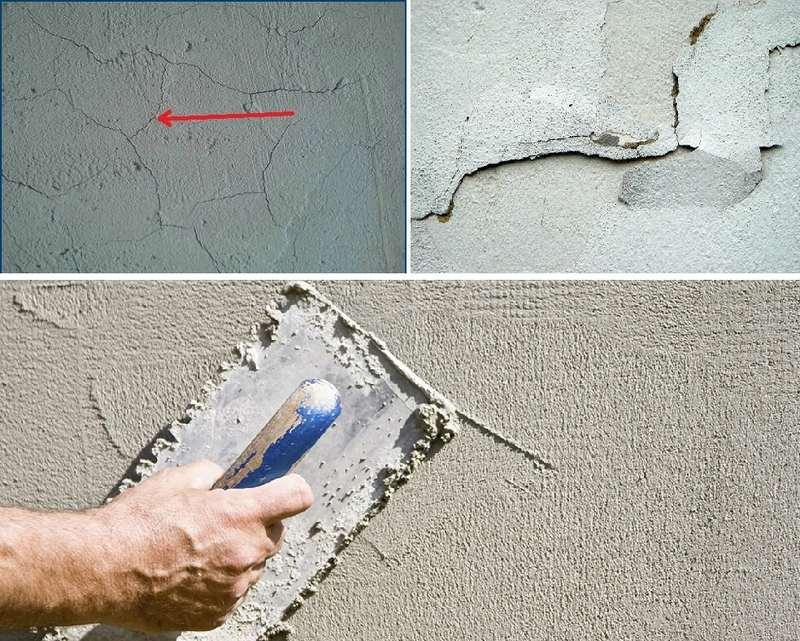 Ошибки при выполнении штукатурки стен приводят к появлению трещин и отслаиванию раствора
