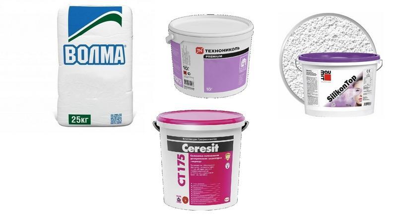 Популярные производители минеральной штукатурки