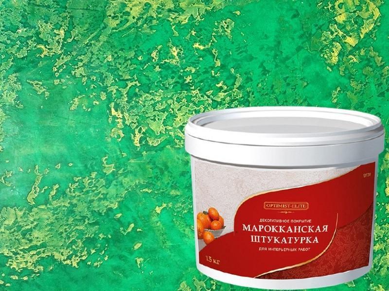 При использовании марокканской штукатурки понадобится 2 килограмма материала для квадратного метра покрытия