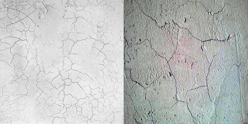 Трещины и сколы - последствия нанесения штукатурной смеси без подготовки основания