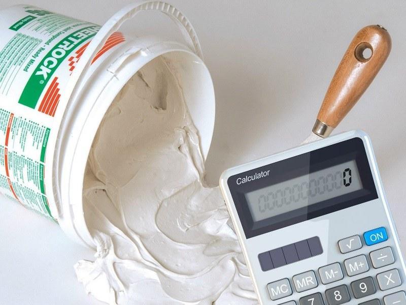 Расчет расхода штукатурки осуществляется с учетом технических особенностей вида отделки и размера обрабатываемой поверхности