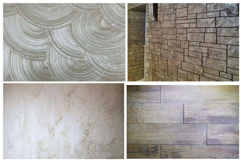 Рельеф фактурной штукатурки способен имитировать древесину, песок, каменный материал