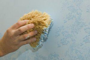 Рельефный пласт набивают губкой