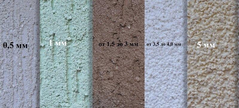 С увеличением размера фракций мраморной штукатурки возрастает расход материала