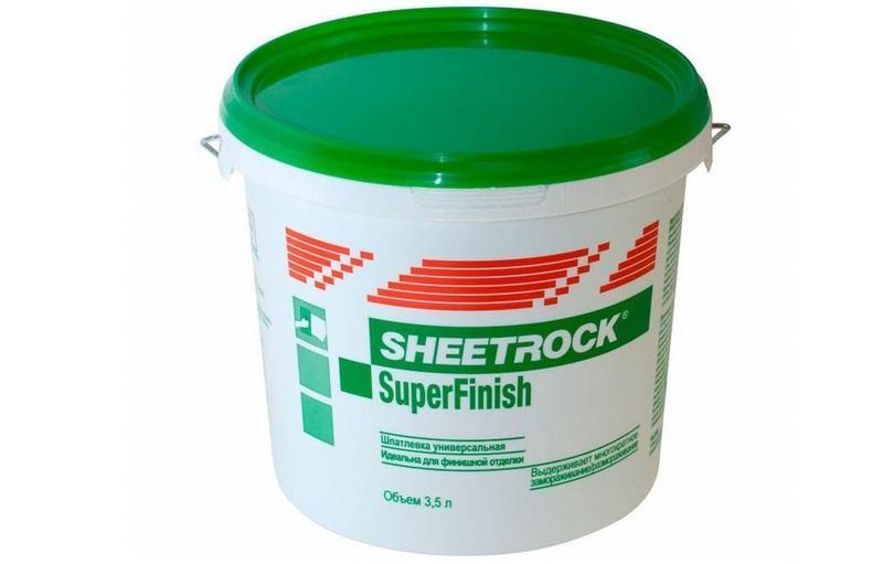 «Шитрок» - смесь белого цвета, которая применяется для шпатлевания оштукатуренных и окрашенных стен