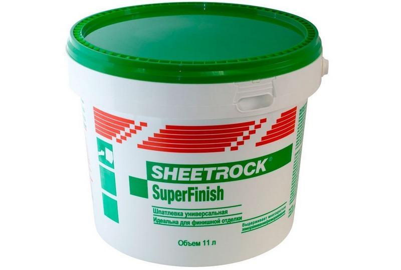 Шпаклевка Sheetrock SuperFinish подходит для создания идеально ровных, гладких поверхностей под окрашивание
