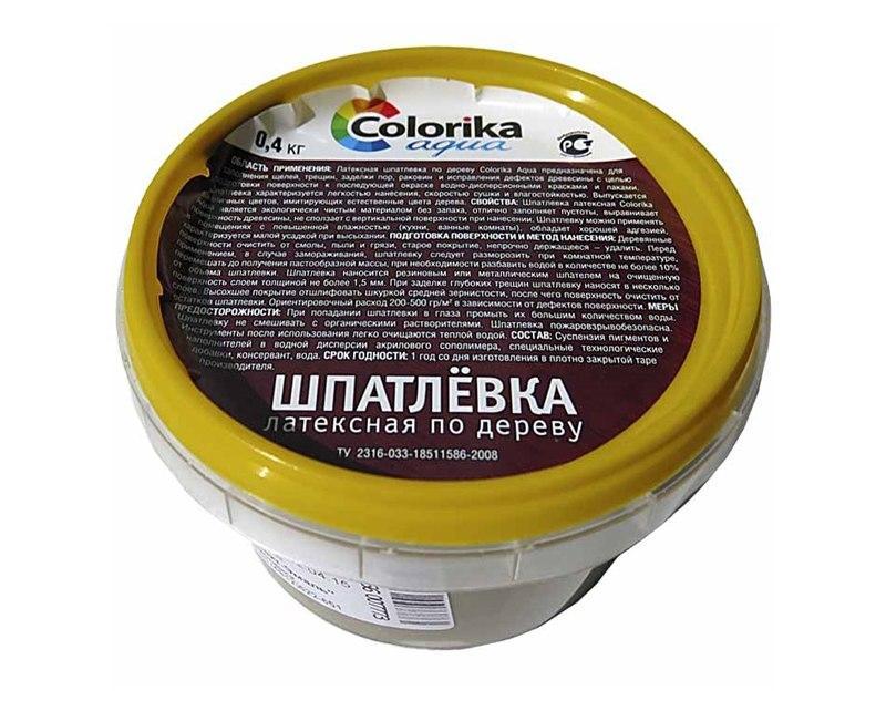 Шпаклевка по дереву Colorika Aqua предназначена для заделывания трещин и подготовки поверхности к дальнейшей окраске