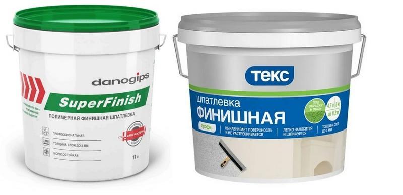 "Шпаклевки: ""Danogips Sheetrock SuperFinish"" и ""ТЕКС финишная Профи"""