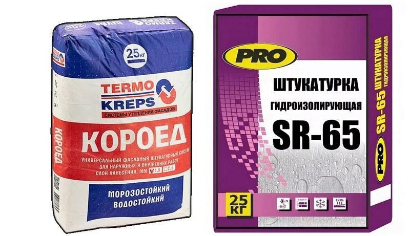 Штукатурки: «Крепс термокрепс» и Centerpro sr 65